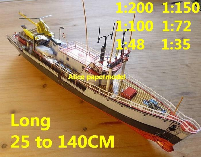 cargo Ship research vessel oceanographic researcher Ship bulk freighter vessels ship big large scale size ship sailing boat models model passenger liner cruise cargo container tanker cruiser tugboat Ferry Sailboat papercraft Military army Soldiers Barbie doll model scene paper on for sale store shop