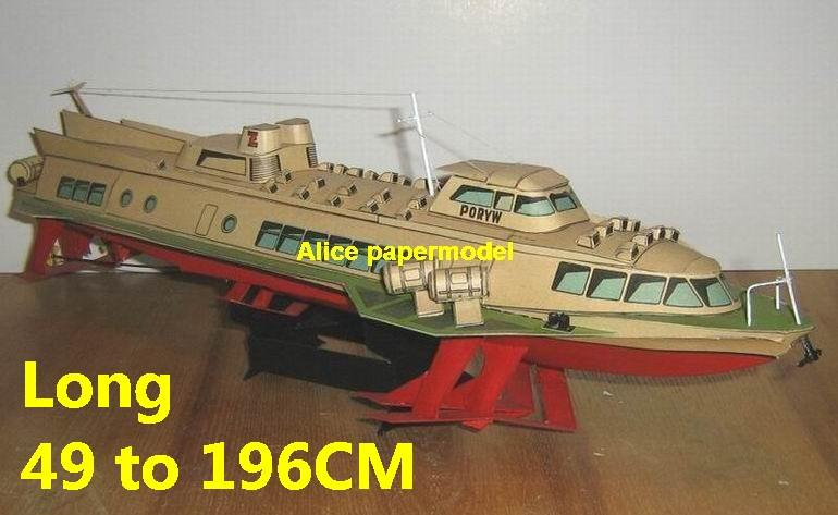 catamaran Hydrofoil Hydrofoils hovercraft Double hull bulk freighter vessel big large scale size ship sailing boat models model passenger liner cruise cargo container tanker cruiser Ferry tugboat Sailboat papercraft Military army Soldiers Barbie doll model scene paper on for sale shop store
