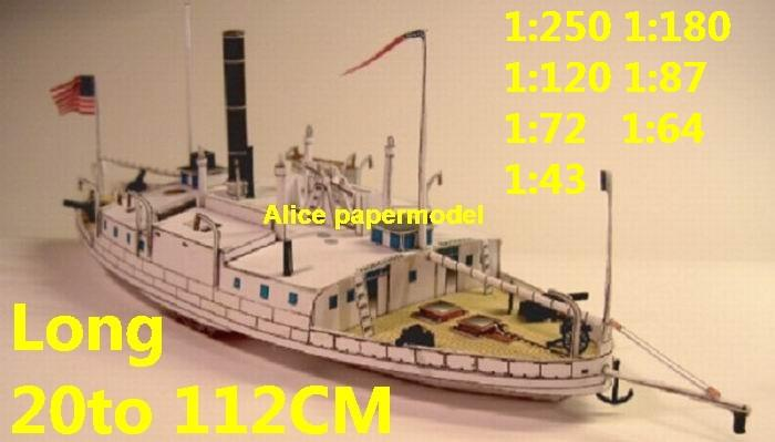 US USA civil war vintage steamship riverboat Paddle Steam ship bulk freighter passenger liner big large scale size ship sailing boat models model cruise cargo container tanker bulk freighter cruiser tugboat Ferry Sailboat papercraft Military army Soldiers Barbie doll model scene paper on for sale store shop