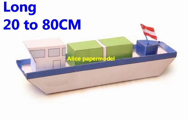 easy made cargo Ship ship torpedo boat armed river patrol gunboat passenger Yacht vessels big large scale size ship sailing boat models model passenger liner cruise cargo container tanker bulk freighter cruiser tugboat Ferry Sailboat papercraft Military army Soldiers Barbie doll model scene paper for on sale store shop