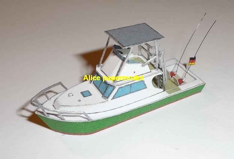 Sport Fishing Fischer boot Yacht pleasure motorboat vessel bulk freighter vessels ship big large scale size ship sailing boat models model passenger liner cruise cargo container tanker cruiser tugboat Sailboat Ferry papercraft Military army Soldiers Barbie doll model scene paper on for sale store shop
