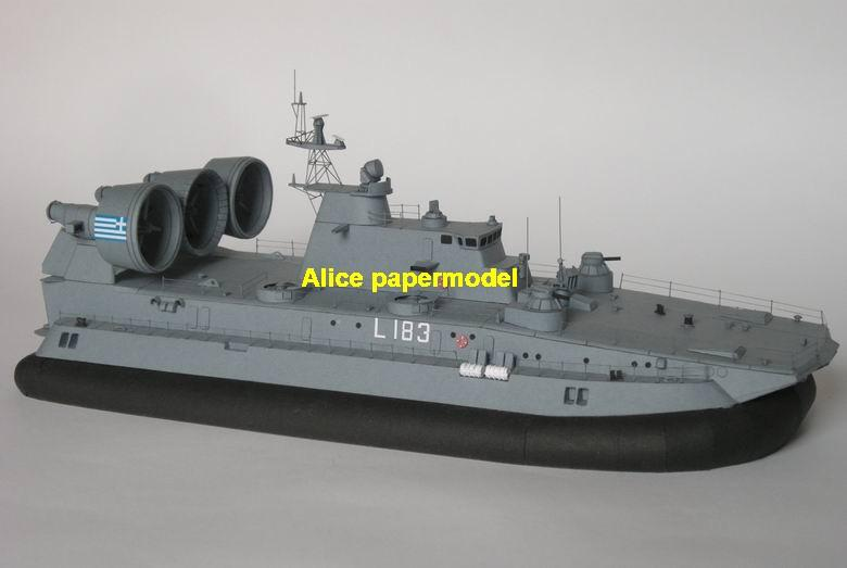 Ukraine Russia Pomornik ZUBR class LCAC army Military hovercraft landing ship Hydrofoils Hydrofoil catamaran Double hull battleship missile cruiser frigate destoryer aircraft carrier landing ship large scale size super big long submarine military warship models model on for sale shop store