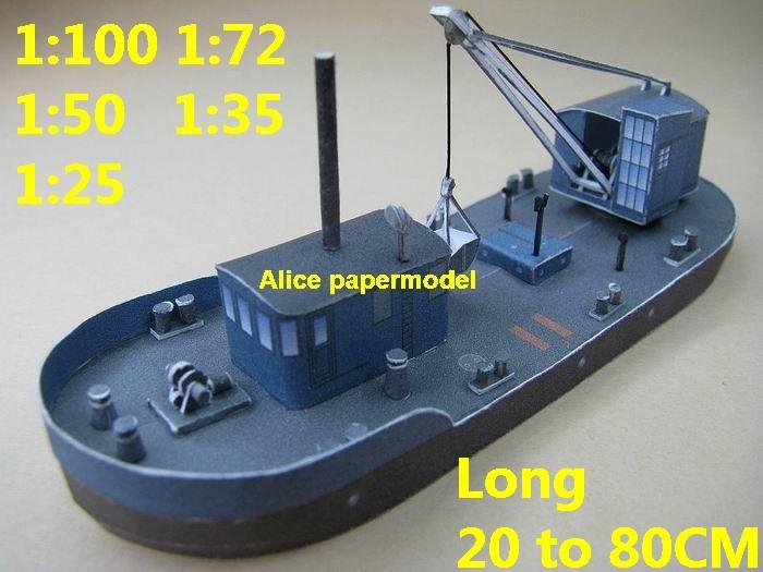 crane engineering work workboat catamaran Hydrofoil Double hull bulk freighter Yacht vessel big large scale size ship sailing boat models model passenger liner cruise cargo container tanker cruiser tugboat Sailboat Ferry papercraft Military army Soldiers Barbie doll model scene paper on for sale shop store