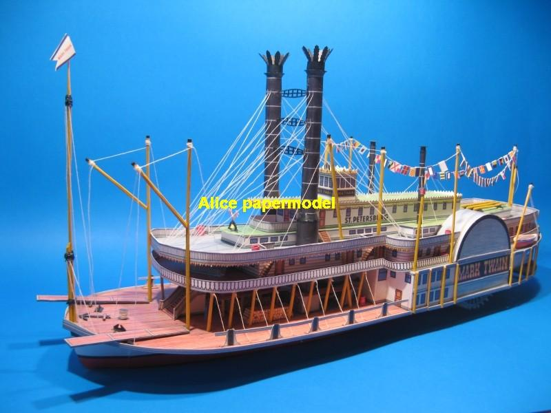 US USA Riverboat Mark Twain steam river boat steamboat vessel Yacht big large scale size ship sailing boat models model passenger liner cruise cargo container tanker bulk freighter cruiser tugboat Sailboat Ferry papercraft Military army Soldiers Barbie doll model scene paper for on sale store shop