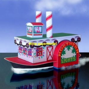 christmas steamboat steam boat cargo Container ship boat river passenger Yacht vessels big large scale size ship sailing boat models model passenger liner cruise cargo container tanker bulk freighter cruiser tugboat Ferry Sailboat papercraft Military army Soldiers Barbie doll model scene paper for on sale store shop