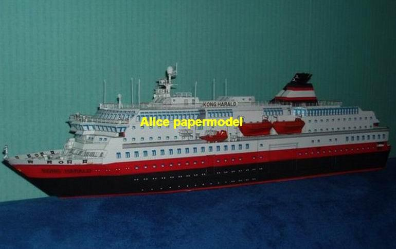 German Kong Harald luxury Costa NCL MSC Royal caribbean ferry bulk steam ferries freighter vessel big large scale size ship sailing boat models model passenger liner cruise cargo container tanker cruiser Ferry tugboat Sailboat papercraft Military army Soldiers Barbie doll model scene paper on for sale shop store