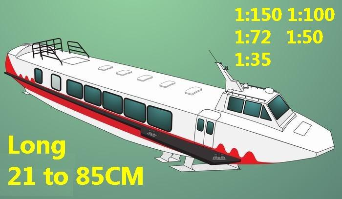 Hydrofoil Hydrofoils catamaran hovercraft Double hull bulk freighter vessel Yacht big large scale size ship sailing boat models model passenger liner cruise cargo container tanker cruiser tugboat Sailboat Ferry papercraft Military army Soldiers Barbie doll model scene paper on for sale shop store