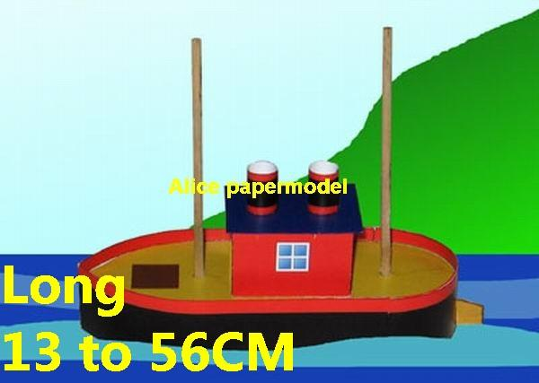 cute house boat tugboat Yacht passenger ship vessels big large scale size ship sailing boat models model passenger liner cruise cargo container tanker bulk freighter cruiser tugboat Sailboat Ferry papercraft Military army Soldiers Barbie doll model scene paper on for sale store shop