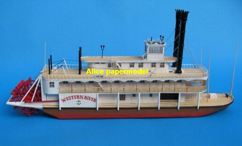 US Western River steam river boat steamboat passenger vessels Yacht big large scale size ship sailing boat models model passenger liner cruise cargo container tanker bulk freighter cruiser tugboat Sailboat Ferry papercraft Military army Soldiers Barbie doll model scene paper for on sale store shop