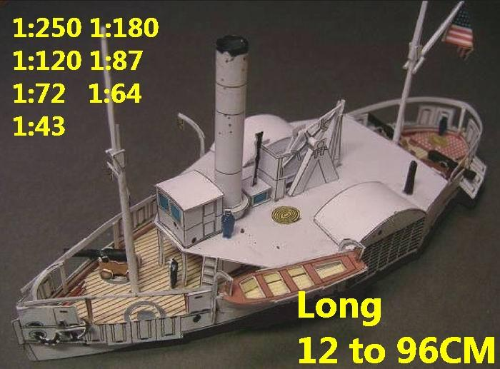 USA US civil war Navy USS Converted Lightship Tender Coeur de Lion ironclad battlecruiser battleship missile cruiser frigate destoryer aircraft carrier landing ship large scale size super big long submarine military warship papercraft models model on for sale shop store