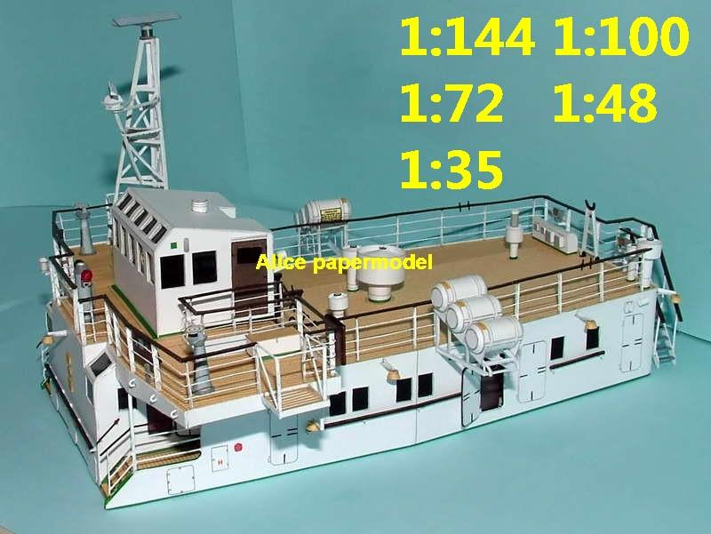 Ship Control Room Bridge Cab sailing Yacht passenger liner cruiser freighter Ferry paper models model on for sale shop store