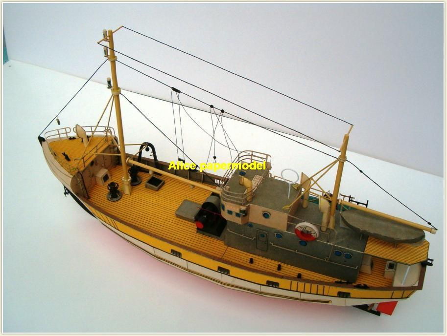 Fishing Fischer boot patrol Yacht bulk freighter Yacht vessel big large scale size ship sailing boat models model passenger liner cruise cargo container tanker cruiser tugboat Sailboat Ferry papercraft Military army Soldiers Barbie doll model scene paper on for sale store shop