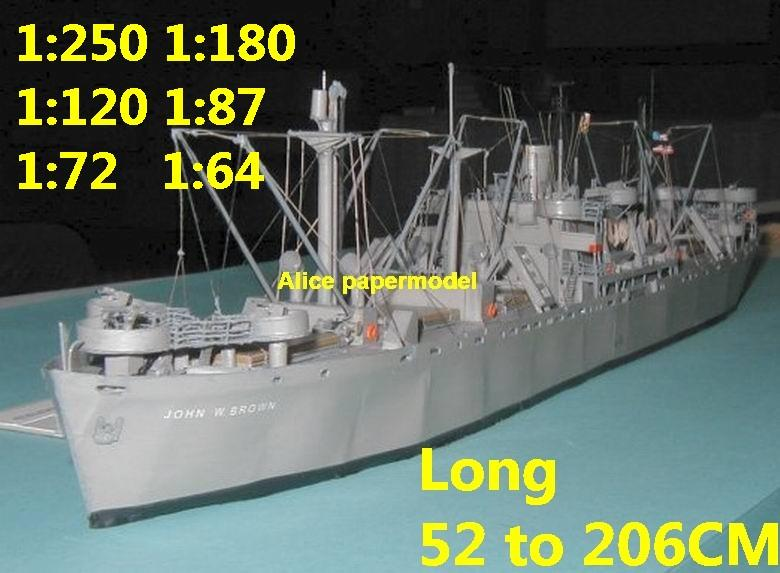 WWII US Liberty class naval cargo Ship bulk freighter vessels ship big large scale size ship sailing boat models model passenger liner cruise cargo container tanker cruiser tugboat Ferry Sailboat papercraft Military army Soldiers Barbie doll model scene paper on for sale store shop