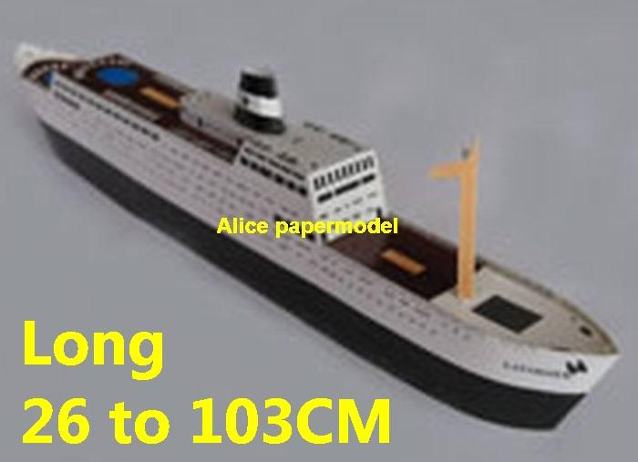easy made passenger liner Yacht vessels big large scale size ship sailing boat models model passenger liner cruise cargo container tanker bulk freighter cruiser tugboat Ferry Sailboat papercraft Military army Soldiers Barbie doll model scene paper on for sale store shop