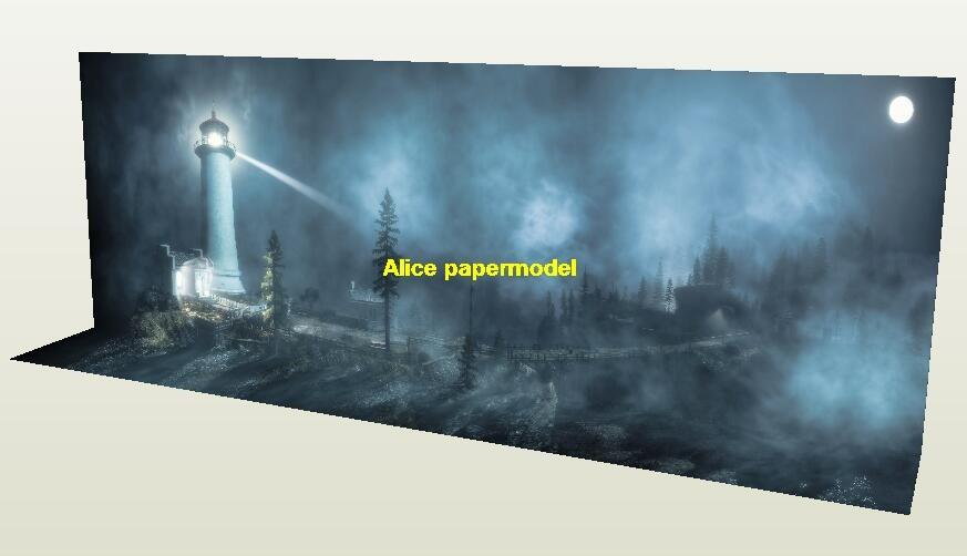 misty Foggy lighthouse forest village city ruin invade DC Marvel The Justice League Avengers Avenger HOT action figure HOTTOYS HT toy toys Construction Ruins Barbie doll house Military Soldiers Fit for Miniature set model scene Dioramas diorama Scenes Accessories Scenery background base models kit on for sale shop store