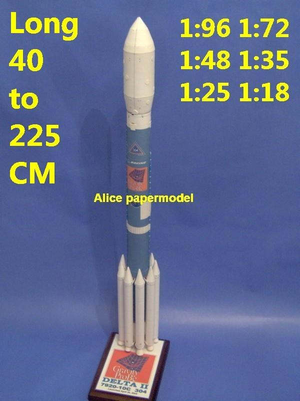 US USA NASA Boeing Delta III Delta-III Delta3 3 Gravity Probe expendable Launch Vehicle system rocket Ballistic missile spaceship plane space shuttle Satellite large big scale size model army Dioramas diorama Barbie doll Military Soldiers scene scenes scenery background base models kit on for sale store shop