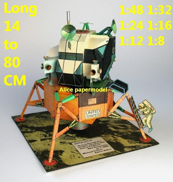 USA US NASA Apollo 11 lunar module astronaut landing on the Moon LM command module CM space shuttle van bus car Raketoplan Launch vehicle launcher buran energia Space Transportation System STS carrier rocket Ballistic missile plane Satellite spaceship large big scale size model army Dioramas diorama Barbie doll Military Soldiers scene scenes scenery background base models kit on for sale shop store