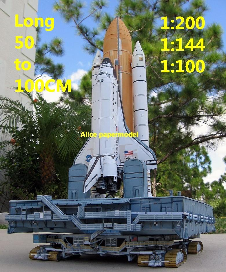 USA US NASA space shuttle crawler transporter Raketoplan MLP Mobile Launch Platform vehicle launcher buran energia Space Transportation System STS carrier rocket Ballistic missile plane Satellite spaceship large big scale size model army Dioramas diorama Barbie doll Military Soldiers scene scenes scenery background base models kit on for sale shop store