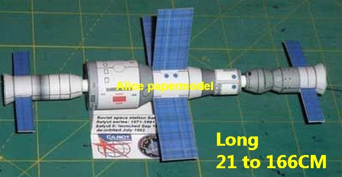 Russia CCCP Soviet Union USSR Salut Salyut capsule CM SM command module space station rocket Satellite spaceship large big scale size model models kit on for sale shop store