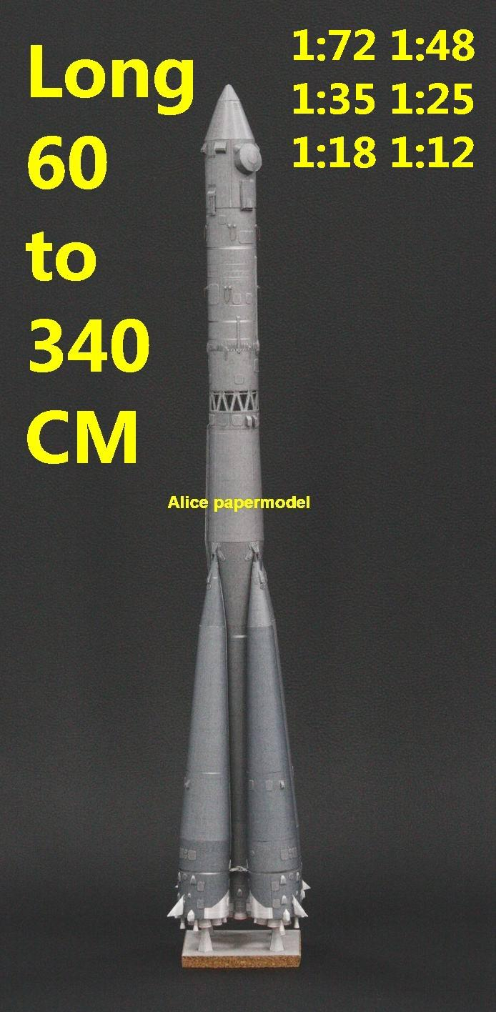 Russia the Soviet Union USSR R7 R-7 Vostok 2 Vostok-2 Vostok2 Soyuz orbital carrier rocket IRBM homing SLBM Ballistic air to air SAM ground to air guided missile rocket spaceship plane NASA plan rocket space shuttle Satellite large big scale size model scene army Dioramas diorama Barbie doll Military Soldiers scene scenes scenery background base models kit on for sale shop store