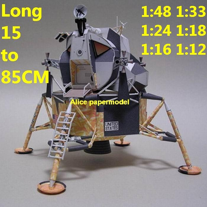 USA NASA Apollo lunar module astronaut landing Moon LM command CM Satellite rocket spaceship large big scale size model models kit on for sale shop store