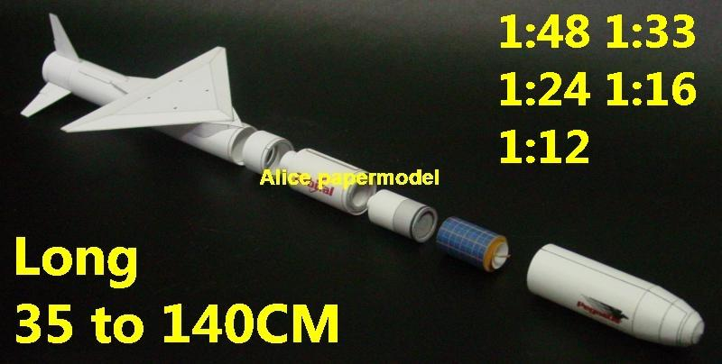 USA USN US air force Pegasus Orbital Sciences Corporation sounding rocket infrared homing SLBM Ballistic air to air SAM ground to air guided missile rocket spaceship plane NASA plan rocket space shuttle Satellite large big scale size model scene army Dioramas diorama Scenes Scenery background base models kit on for sale shop store