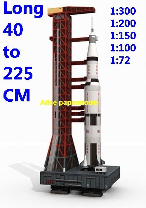 USA US NASA Saturn V Saturn-V Saturn-5 LUT-1 LUT Apollo 11 Mobile Launch Platform Mobile Launcher 1 ML-1 MLP MLP-3 space shuttle crawler transporter Raketoplan vehicle launcher buran energia Space Transportation System STS carrier rocket Ballistic missile plane Satellite spaceship large big scale size model army Dioramas diorama Barbie doll Military Soldiers scene scenes scenery background base models kit on for sale shop store