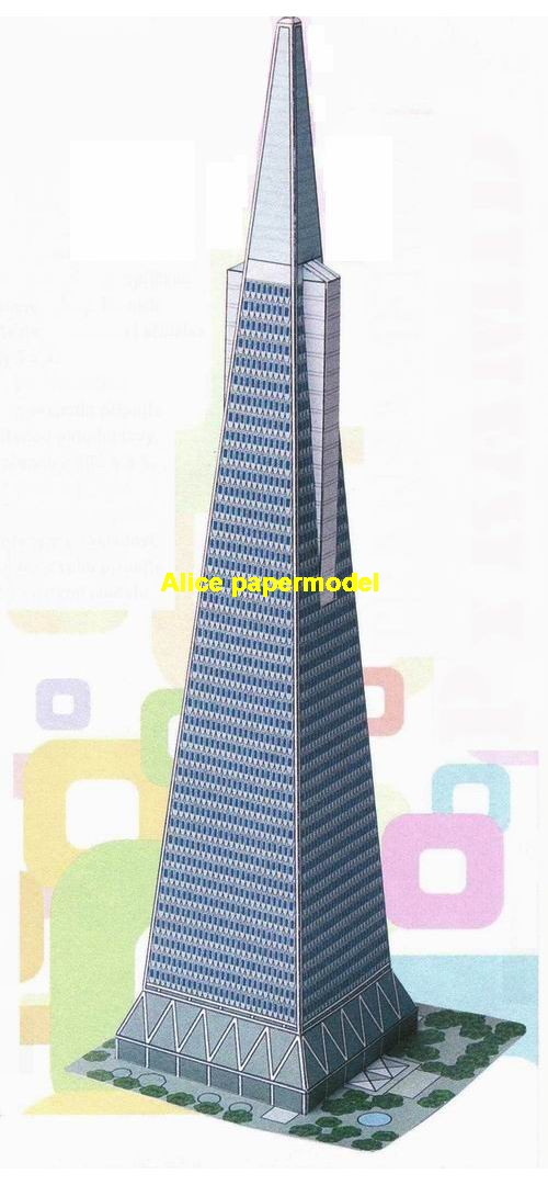 USA US California San Francisco Transamerica Pyramid tower skyscraper highrise tall High building structure city scene big large scale size model models kit on for sale store shop