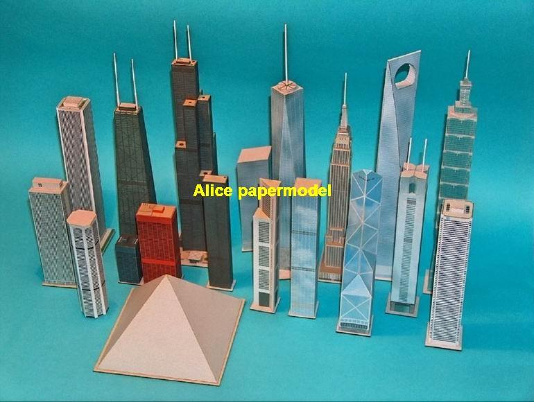skyscraper tall highrise High building mansion architecture structure city scene scenes big large scale size model models kit on for sale store shop