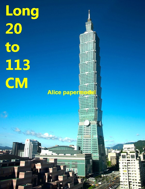 China Taiwan Taipei 101 skyscraper highrise tall High building city scene big large scale size model models kit on for sale store shop