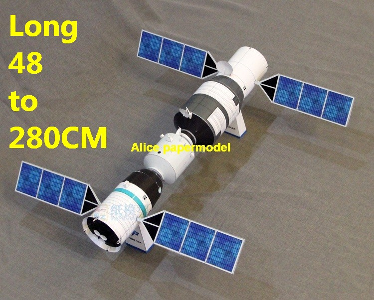 China Chinese Tian gong Tiangong Shenzhou Shen zhou command module CM spaceship space station spacestation Long March rocket Satellite model models on for sale shop store