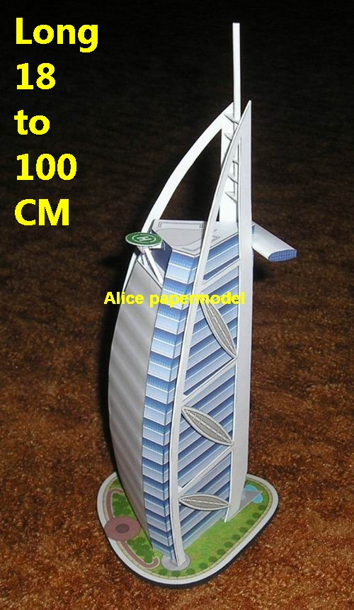 United Arab Emirates UAE Dubai Sailing sailboat Hotel Burj Al Arab skyscraper mansion highrise tall High building city scene big large scale size model models kit on for sale store shop