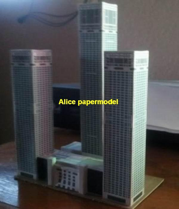 Chinese China Beijing Yintai business Center skyscraper highrise tall High building city scene big large scale size model models kit on for sale store shop