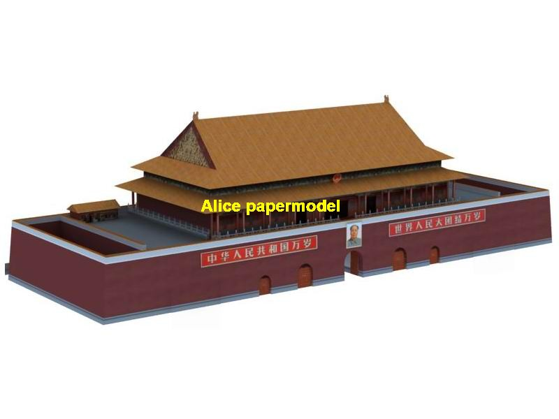 China Chinese Beijing ancient Tiananmen Tian anmen square Building Scene Gate of Heavenly Peace monumental gate the Forbidden City large big scale size models model kit on for sale shop store