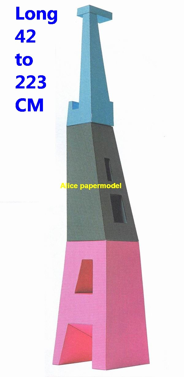 US ABC tower highrise skyscraper tall High building structure city scene big large scale size model models kit on for sale store shop