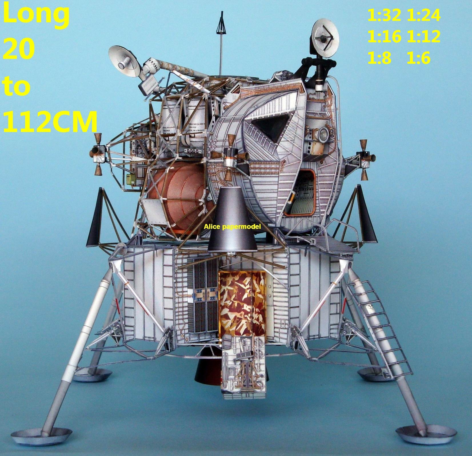 USA NASA Apollo plan LM-7 LM7 Aquarius lunar module astronaut landing Moon LM command CM Satellite spaceship rocket large big scale size model models kit on for sale shop store
