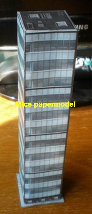 Business Office building CBD skyscraper city street highrise tall High building city scene big large scale size model models kit on for sale store shop