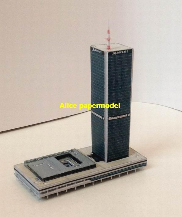 USA US Marriott Hotel street highrise skyscraper tall High building city scene big large scale size model models kit on for sale store shop