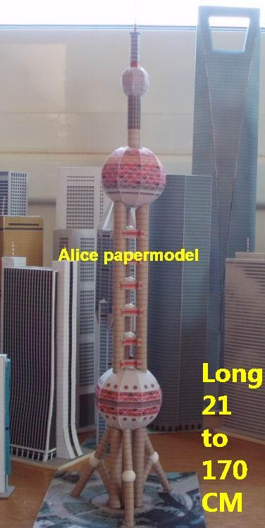 China Chinese shanghai Oriental Pearl Radio TV Tower Plaza Buildings Tower  skyscraper business street highrise tall High building city scene big large