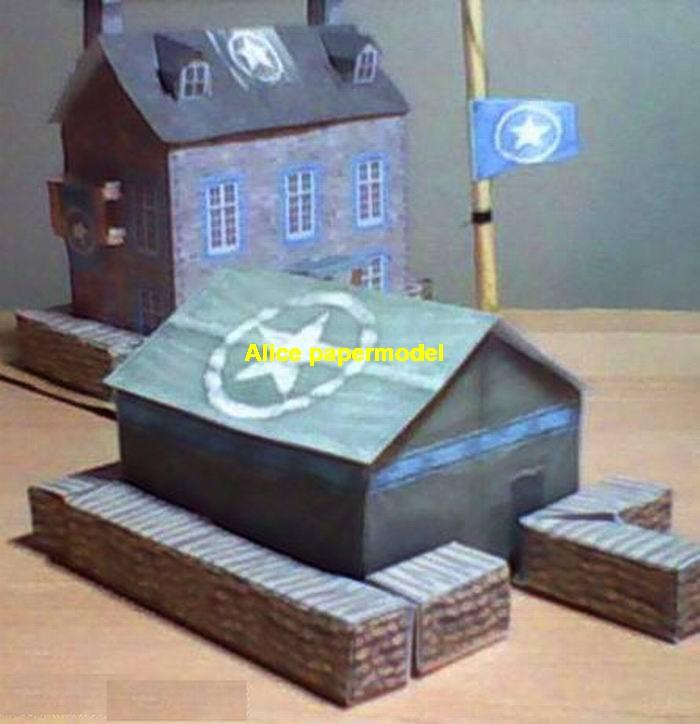 fort fortress Command HQ banner bunker abandon ruin battlefield warzone Military Soldiers model scene diorama base models kit on for sale store shop