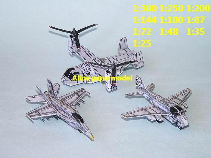 mini small scale USAF US KA6 KA-6 A-6 A6 intruder F-18 F-18E F18E hornet V-22 V22 MV-22 MV22 orsprey helicopter fighter plane battlefield warzone model scene models kit on for sale store shop