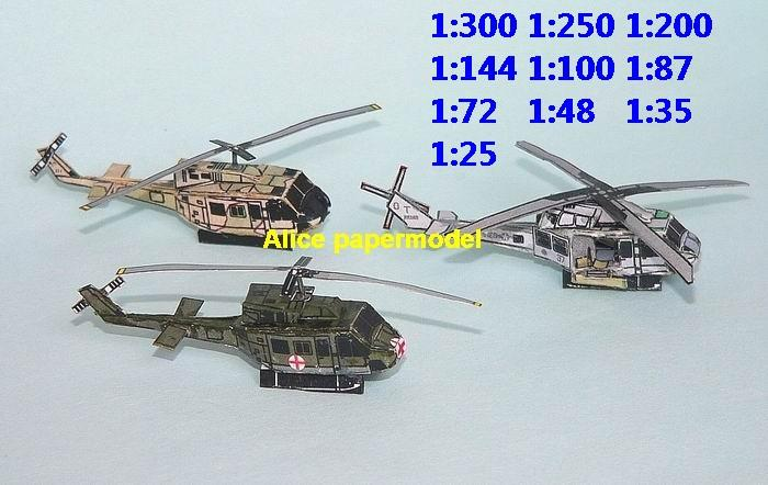 mini small scale USAF US marine airforce airplane UH1 UH-1 helicopter fighter gunship plane battlefield warzone model scene models kit on for sale store shop