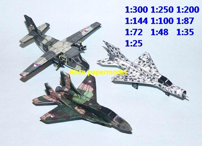 mini small scale Russia Czech airforce airplane Mikoyan Mig-29 Mig29 Fulcrum Mig-21 Mig21 Fishbed helicopter fighter gunship plane battlefield warzone model models scene kit on for sale store shop