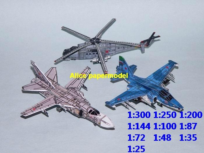 mini small scale Russia USSR airforce airplane Su-24 Su-24M Su24 Su-39 Su39 Strike Shield Mi-35M Mi35 Mi-35 helicopter fighter gunship plane battlefield warzone model scene models kit on for sale store shop