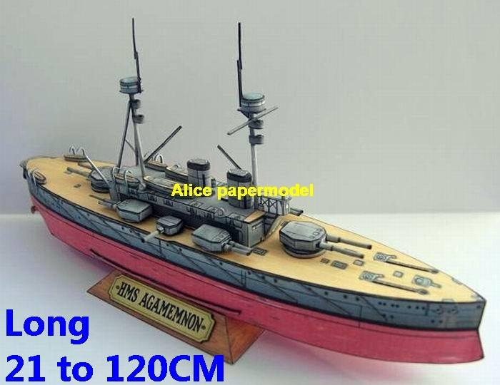 UK United Kingdom WWI Royal Navy HMS Agamemnon Lord Nelson class pre dreadnought battleships destoryer model Torpedo boat military ship warship papercraft models on for sale store shop