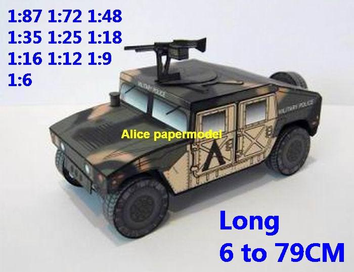US USA HMMWV M998 Army High Mobility Multi purpose Wheeled Vehicle military  hummer jeep jeeps Military Soldiers model scene diorama models kit on for