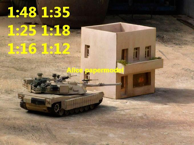 Mid east terrorist house city war motel street fighting warzone battlefield terrorist Iraq Syria Libra building scene ruin abandon Military Soldiers model diorama Scenery base models kit on for sale store shop