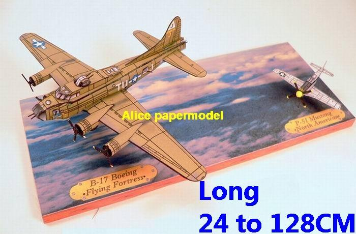 US USAF USA Diorama B-17 flying fortress B17 P-51 P51 Mustang figher bomber Air combat plane war dogfight sky scene army aircraft warplane model models for on sale store shop