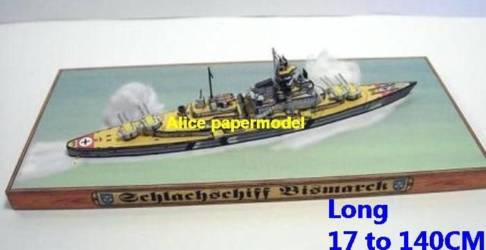 WWII German Germany Battelship Bismarck large size scale frigate destoryer warship battle scene ship boat on for sale store shop