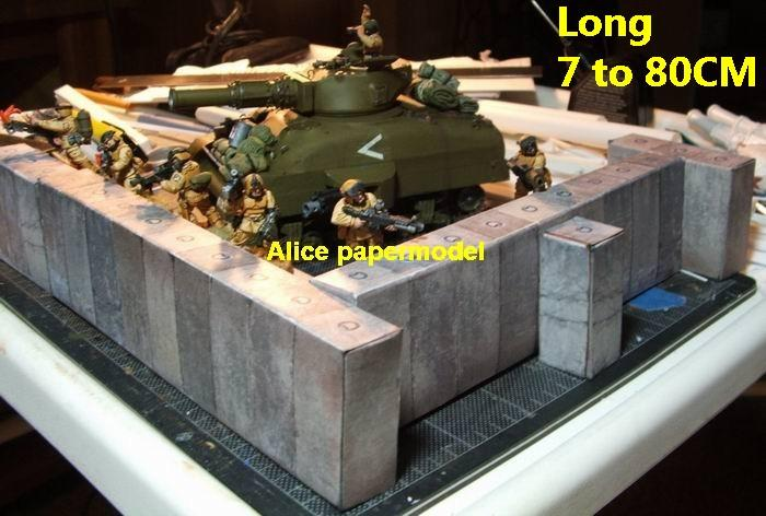 bunker scfi banner fortress gun turret fort abandon ruin battlefield warzone DC Marvel Avengers Military Soldiers model scene diorama base models kit on for sale store shop